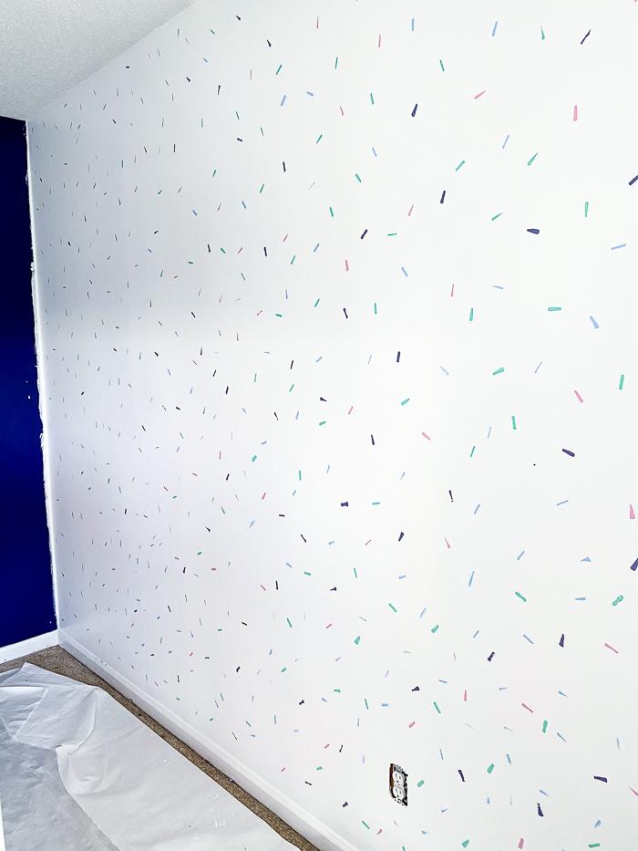 DIY Colorful Confetti Wall