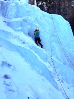 Ice climbing in the White Mountains