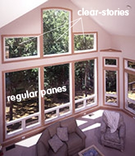 Examples of clear-story panes