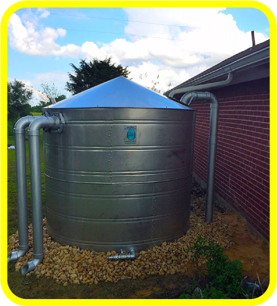 5,000 Gallon Texas Metal Rain Water Harvesting Tank from Rain Ranchers