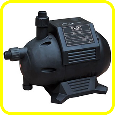 Leader EBS Pump from Rain Ranchers, a 1250 1 HP, automatic self-priming, above-ground, rainwater harvesting pump system. Up to 22 gsm and 80 psi (max).