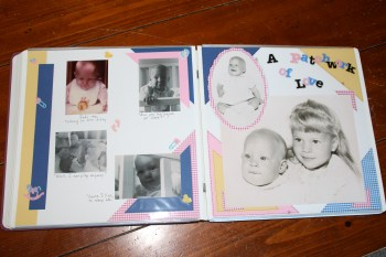 Joss' baby album.  (Please do not use these photos.)