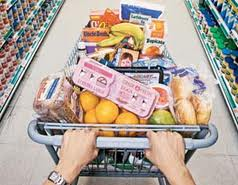 Grocery cart, bag, whatever your groceries are in, Reiki them.