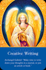 One of Archangel Gabriel's specialties is creativity.  Call on Archangel Gabriel to help you get motivated or any aspect of writing you need help with.