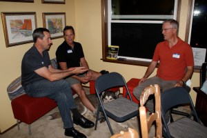 After the talk, my husband Robert left, Candia's husband Dale, middle and Gigi's husband, Gerry sat around talking.  I'm sure they were talking about Soul Rays!!