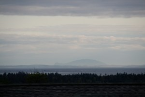 Orcas Island is the turtle shaped island.  This is the view from our house in Sequim, WA.
