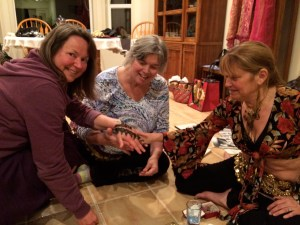 After the dancing and potluck dinner, Rena painted some of the ladies with Henna.  They were truly beautiful.  She also taught us that the material they make Henna with is made from herbs and essential oils and is healthy and healing for the skin & body.  SO COOL!