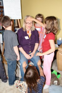 The kids were eager to practice Reiki on their Sensei (Teacher) Josslyn and she loved it.  The more Reiki the better is what I always say.  Loving kid Reiki is the best.