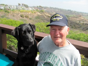 Papa Joe with his loyal lab, Sparty