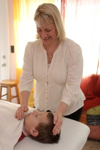 I also always get verbal permission from children, animals and most especially family members. This is a picture of my son receiving Reiki. We are most likely to have deep emotional connections when working on family members which are much harder to release effectively and therefore permission is of utmost importance. I fully respect my family's ability to work through their own issues and to sometimes say NO to me doing Reiki on them. It's all good and ok in the big picture.