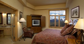This is the view from your room at Franz Klammer Lodge!