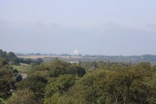 Jodrell Bank in the distance