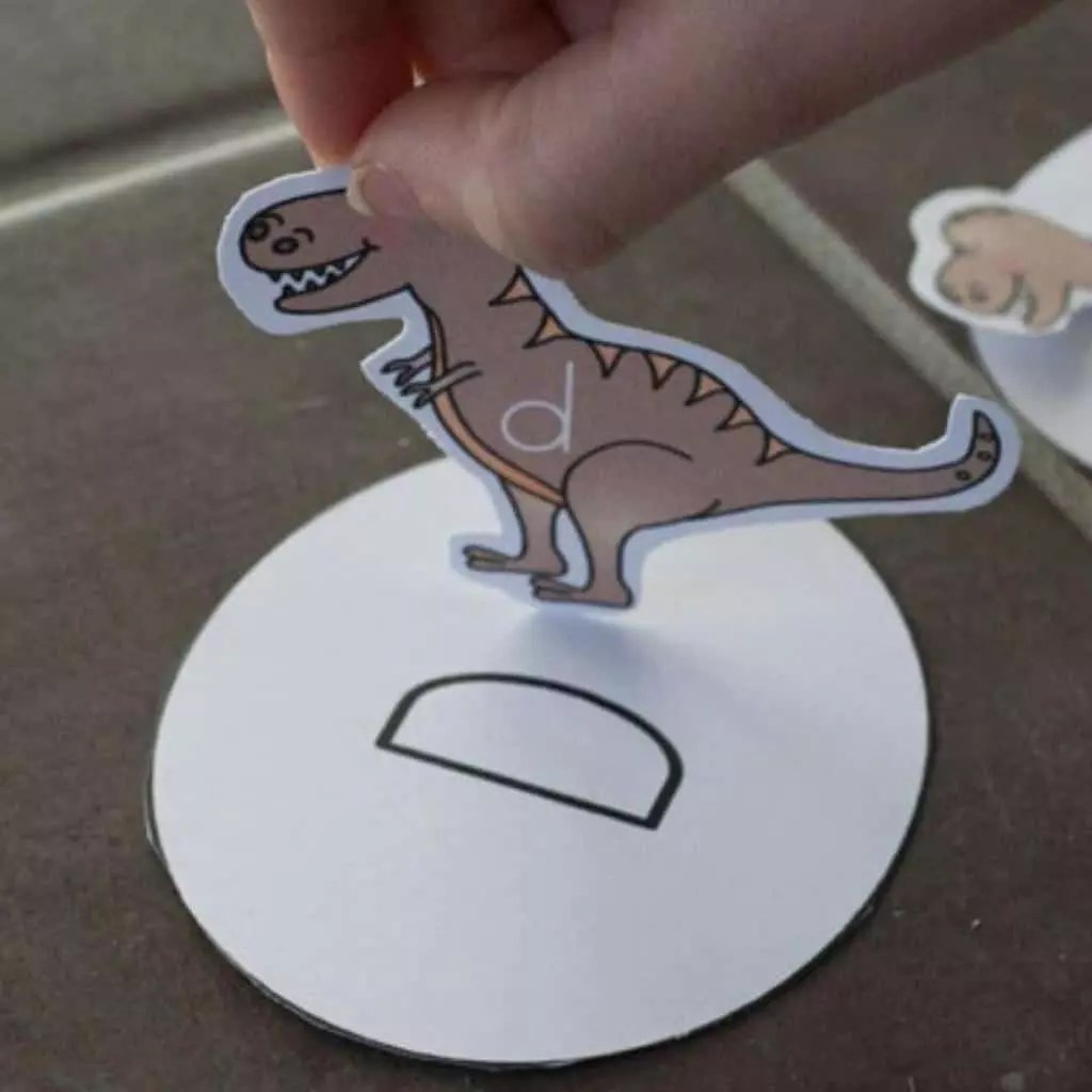 Free Printable Dinosaur Letter Matching Game For Preschoolers