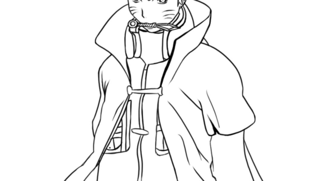 Sketsa Gambar Animasi Naruto Untuk Diwarnai Guru Kakashi 10