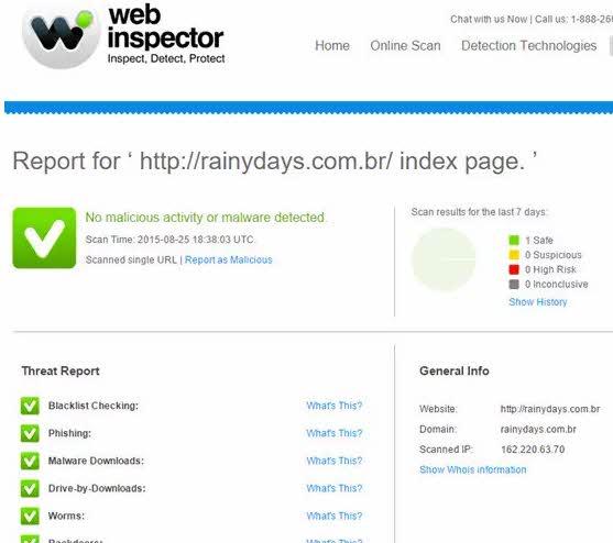 Como Web Inspector verificar link de site
