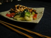Teriyaki Chicken with Oyster Sauce Vegetables