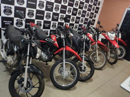 Seis motos furtadas são recuperadas pela DERFRVA após denúncia feita via 197