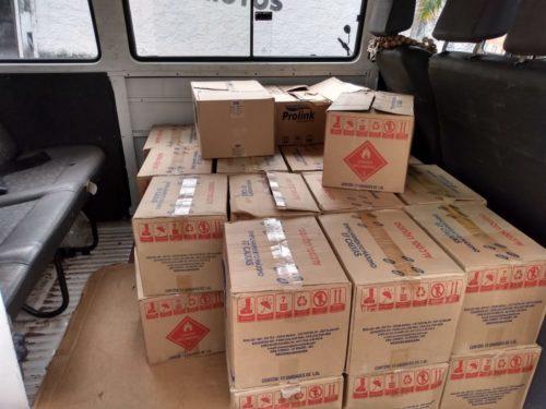 PC e Procon entregam álcool gel e máscaras apreendidos à Saúde de Goiânia