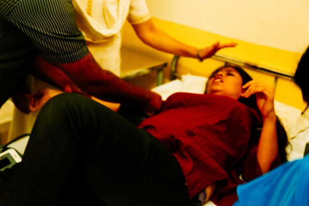 large number of students were admitted to the health centre ,out of which 10 were hospitalised.