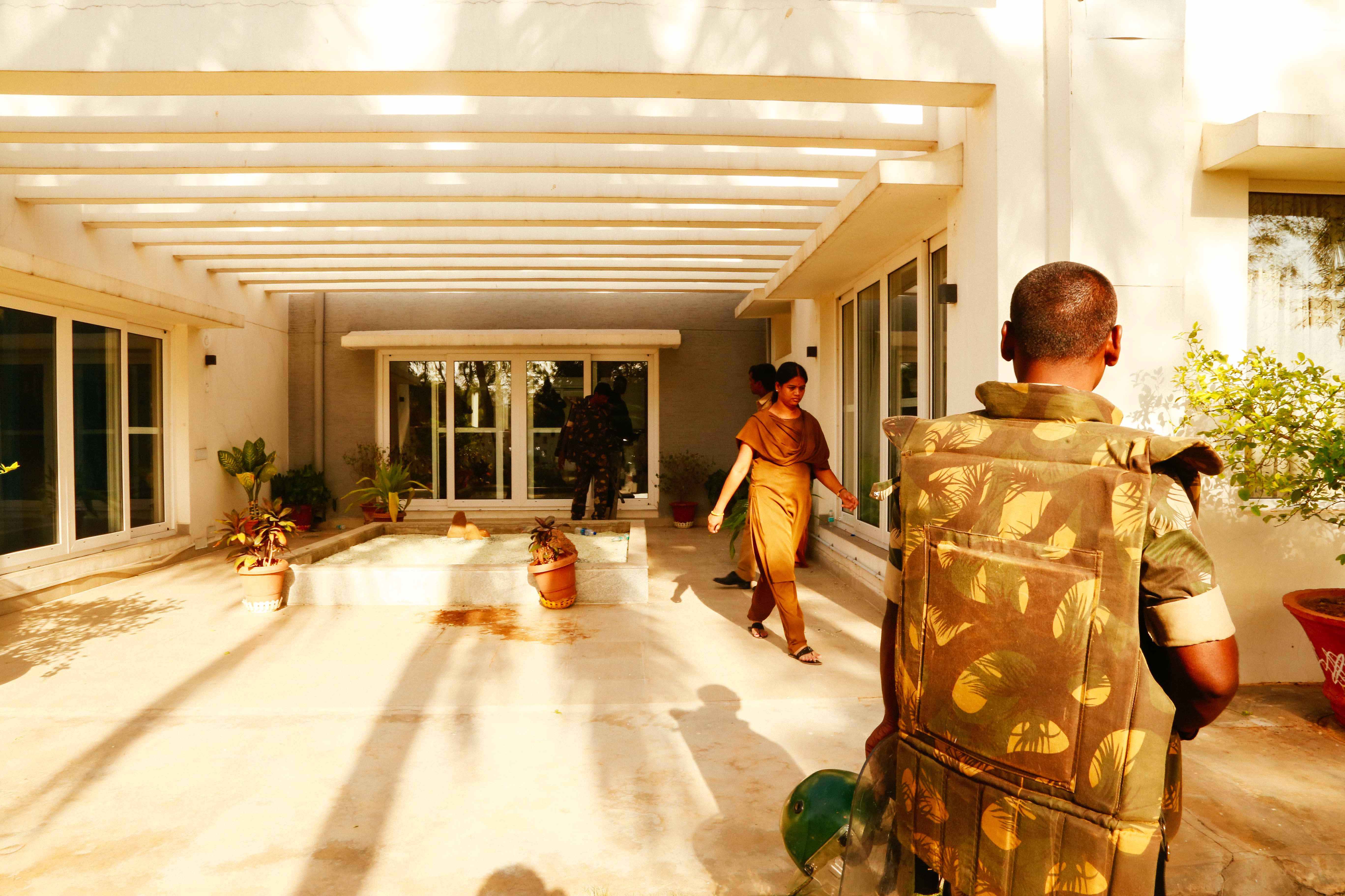 Police protection around the VC guest house