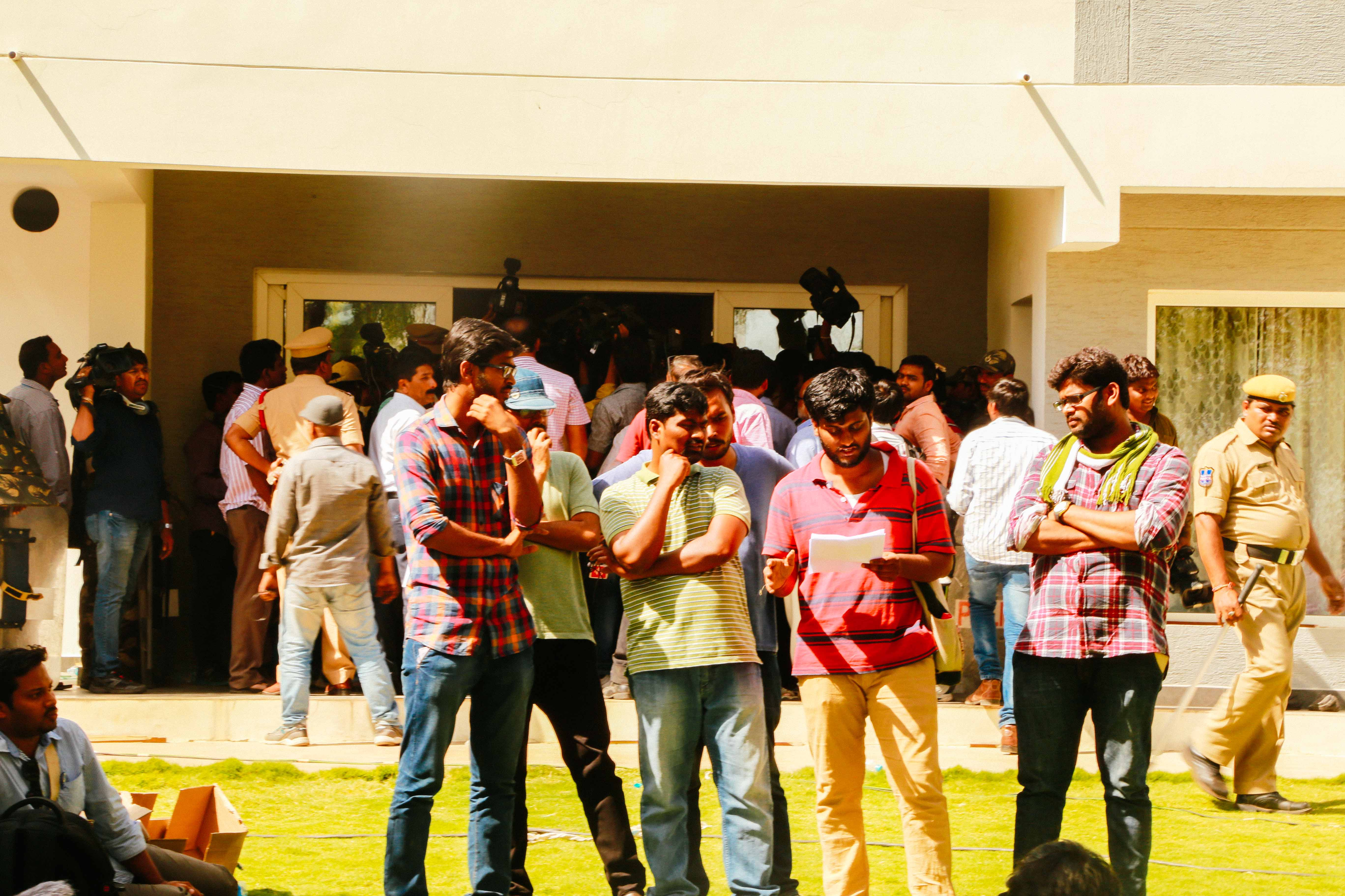 "Dontha Prashant (initially suspended student and ASA member ,under custody now) ,Zuhail KP (students Union president) , Sunkanna(ASA member and Suspended student) discussing the elaborate plan sketched by the VC to encourage vandalism.Tasks for ""like minded"" faculty included getting milk , water and arrange seats , presumably to watch the spectacle"
