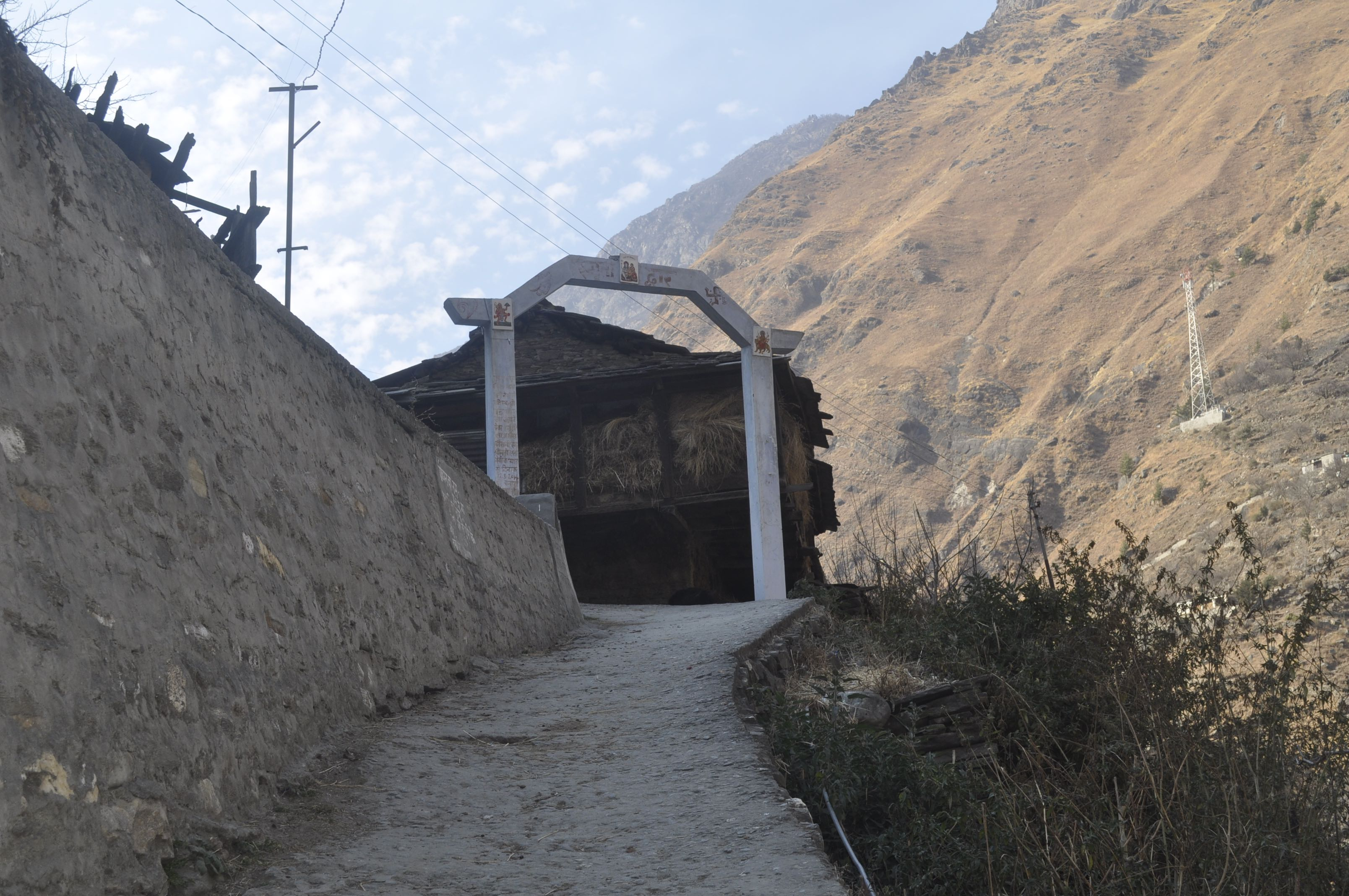 Memorial and entry point to Raini Village -- Nanda Devi Biosphere