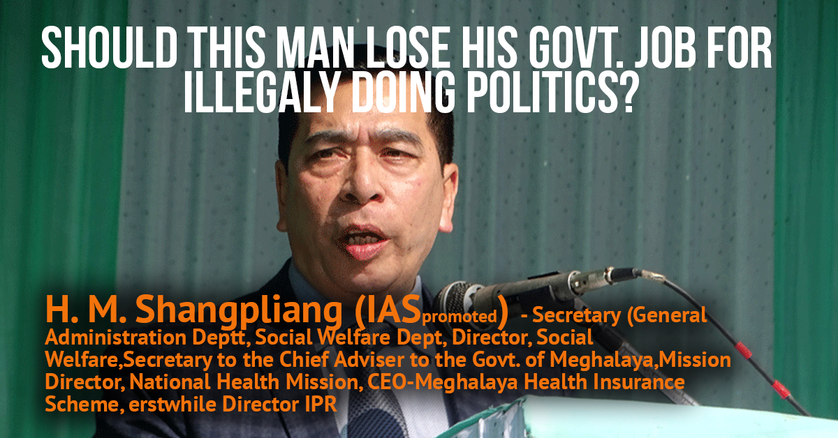 Video & News] HM Shangpliang, serving IAS officer of