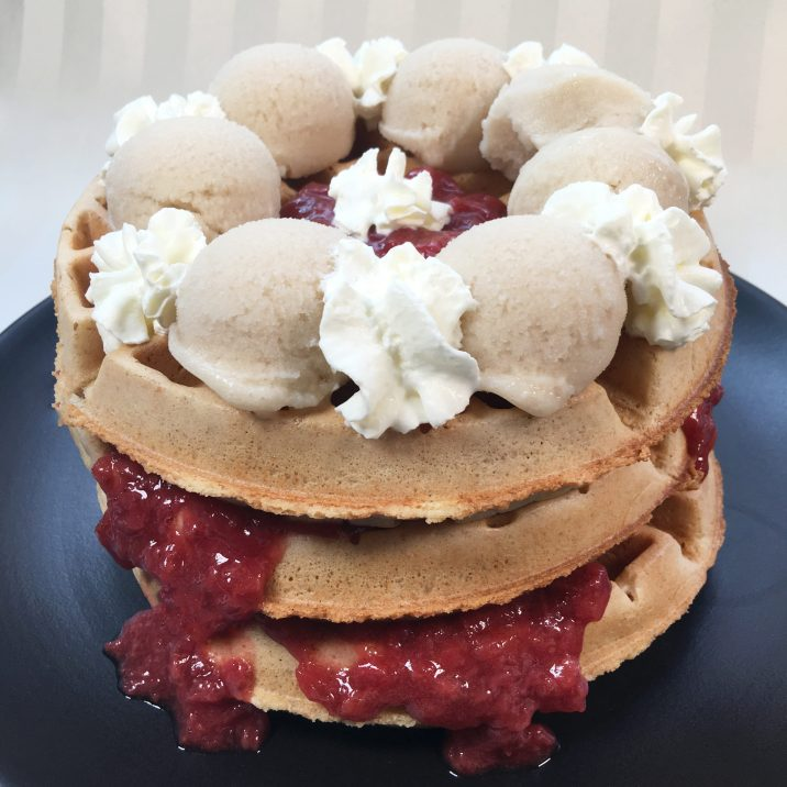 Lemon Strawberry Waffles by The Allergy Chef