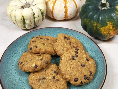 Pumpkin Oatmeal Chocolate Chip Cookies by The Allergy Chef