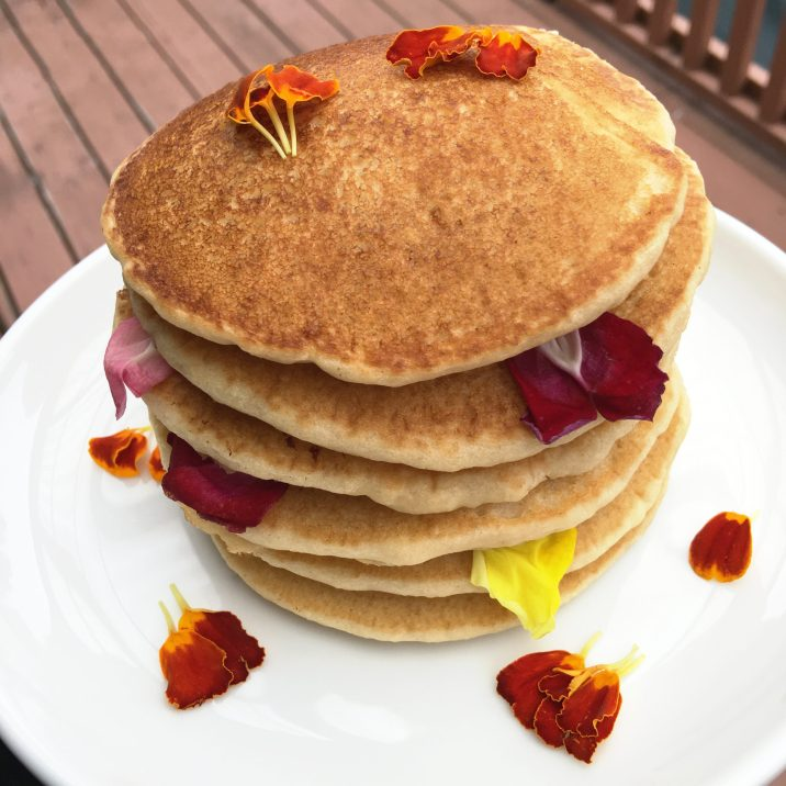 Gluten Free Maple Rose Pancakes by The Allergy Chef