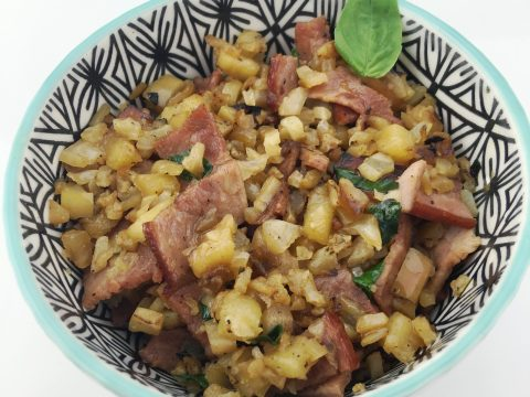 Apple Bacon Cauliflower Rice Recipe by The Allergy Chef