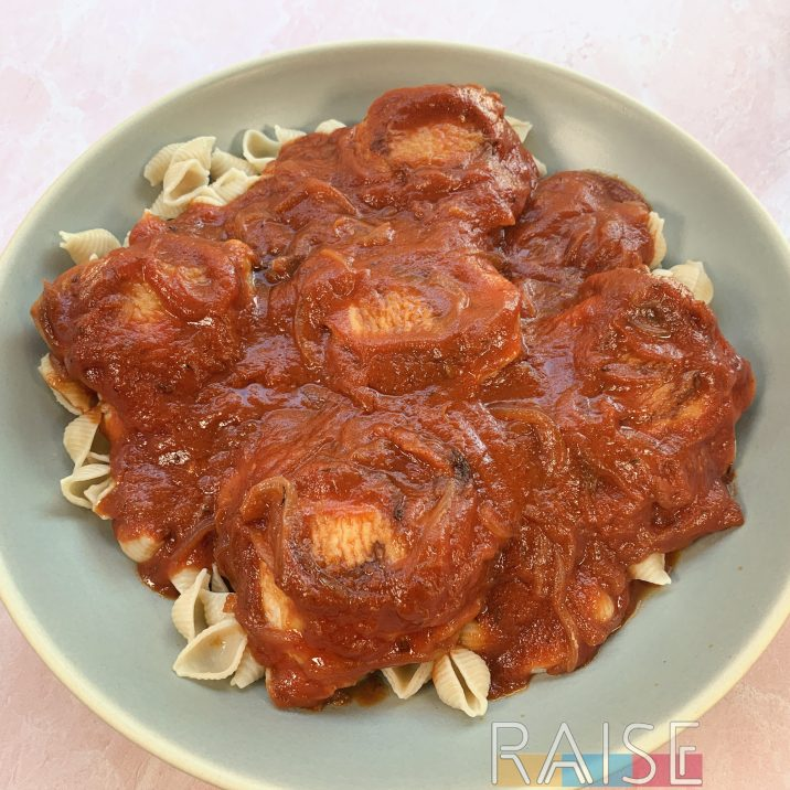 Chicken Thigh Pasta by The Allergy Chef