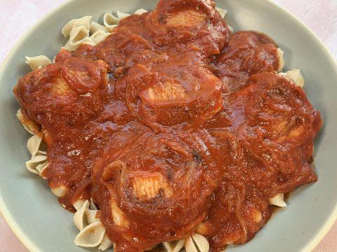 Chicken Thigh Pasta by The Allergy Chef