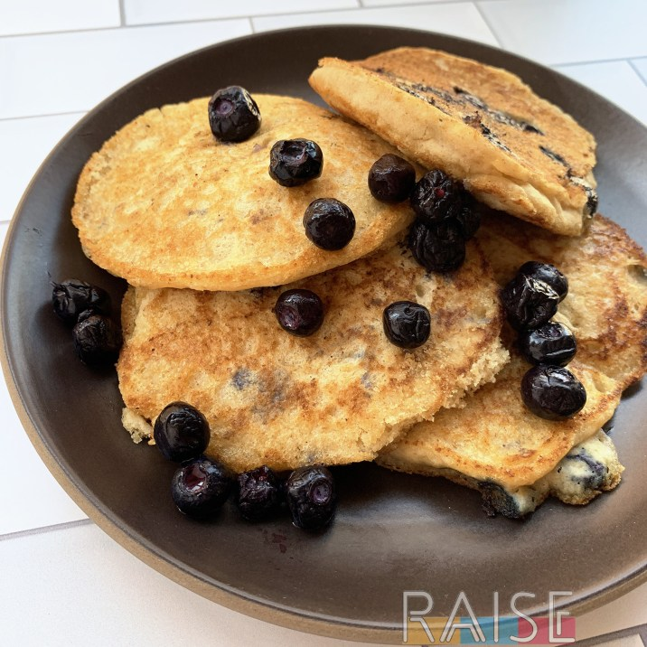 Gluten Free Vegan Lemon Blueberry Pancakes by The Allergy Chef