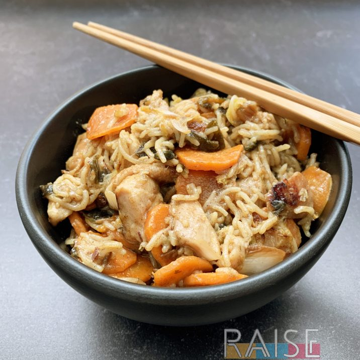 Gluten Free Soy Free Chicken Chow Mein by The Allergy Chef