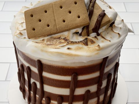 Gluten Free, Vegan, Top 8 Allergy Free S'more Cake by The Allergy Chef