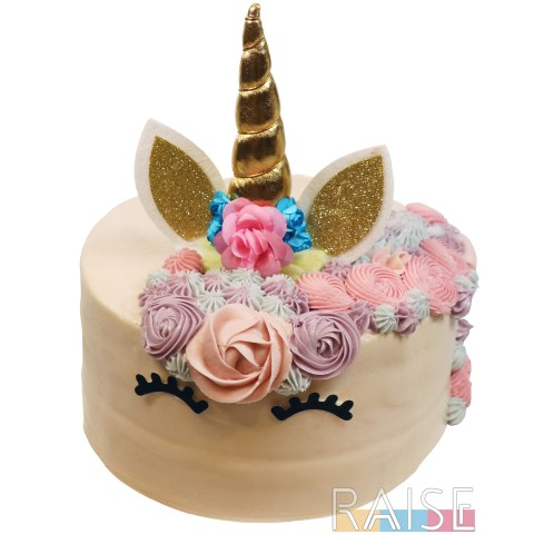 Gluten Free Vegan Unicorn Cake by The Allergy Chef