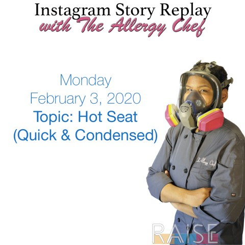 Quick HotSeat Consultation with The Allergy Chef