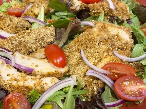 Gluten Free Breaded Chicken Salad by The Allergy Chef