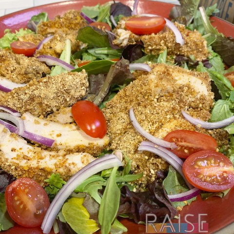 Gluten Free Breaded Chicken Salad by The Allergy Chef