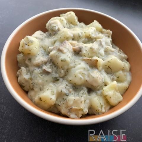 Garlic Potato & Mushroom Chowder by The Allergy Chef