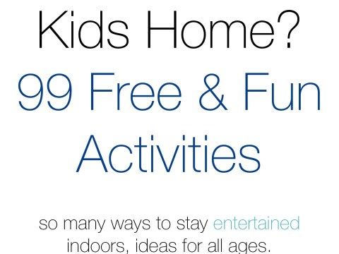 99 Free & Fun Things to Do at Home