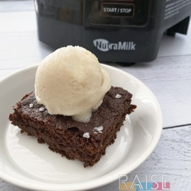 Gluten Free, Vegan, Top 8 Allergy Free Brownies & Ice Cream by The Allergy Chef