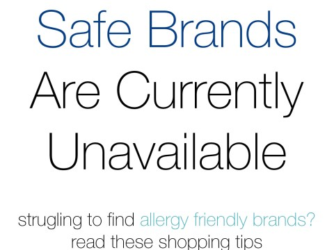 When Safe Brands Are Unavailable by The Allergy Chef