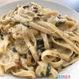 Gluten Free, Dairy Free, Vegan, Top 8 Free Gourmet Creamy Pasta by The Allergy Chef