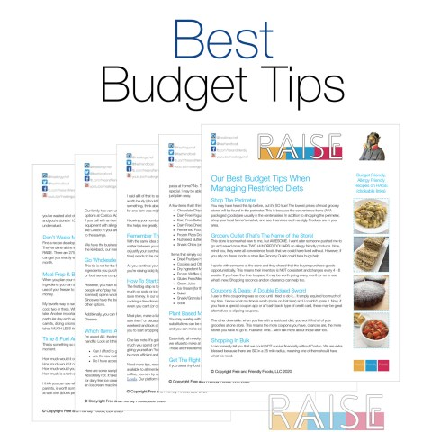 Best Budget Tips by The Allergy Chef