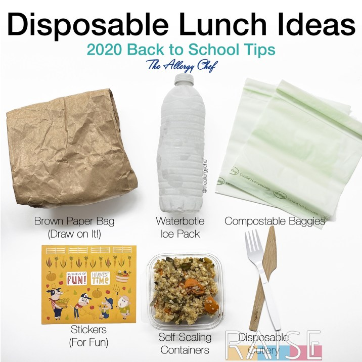 Disposable Lunch Ideas by The Allergy Chef
