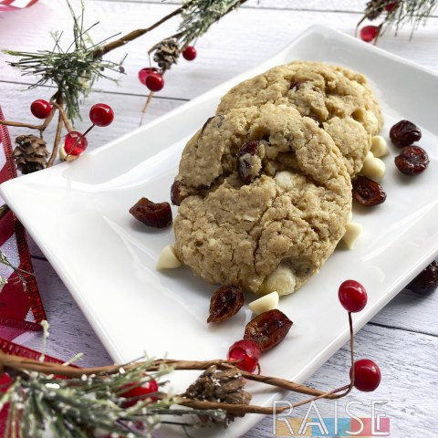 Gluten Free Oatmeal Cranberry White Chocolate Cookies by The Allergy Chef