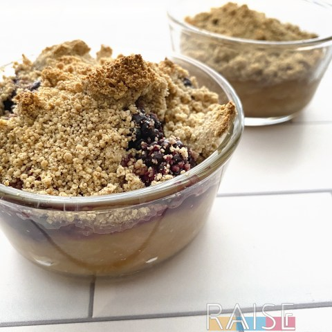 Corn Free Fruit Crumble by The Allergy Chef