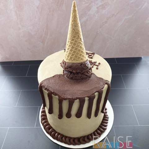 Melted Ice Cream Cone Cake by The Allergy Chef